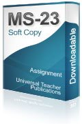 MS-23 Solved Assignment