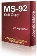 MS-92 Solved Assignment