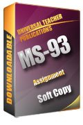 MS-93 Solved Assignment