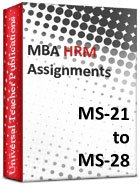 MBA HR (Ms-21 to Ms-29)