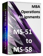 MBA Operations (Ms-51 to 58)
