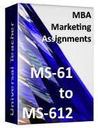 MBA Marketing (Ms-61 to 612)